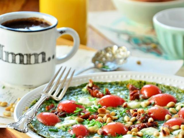 Zielony omlet.