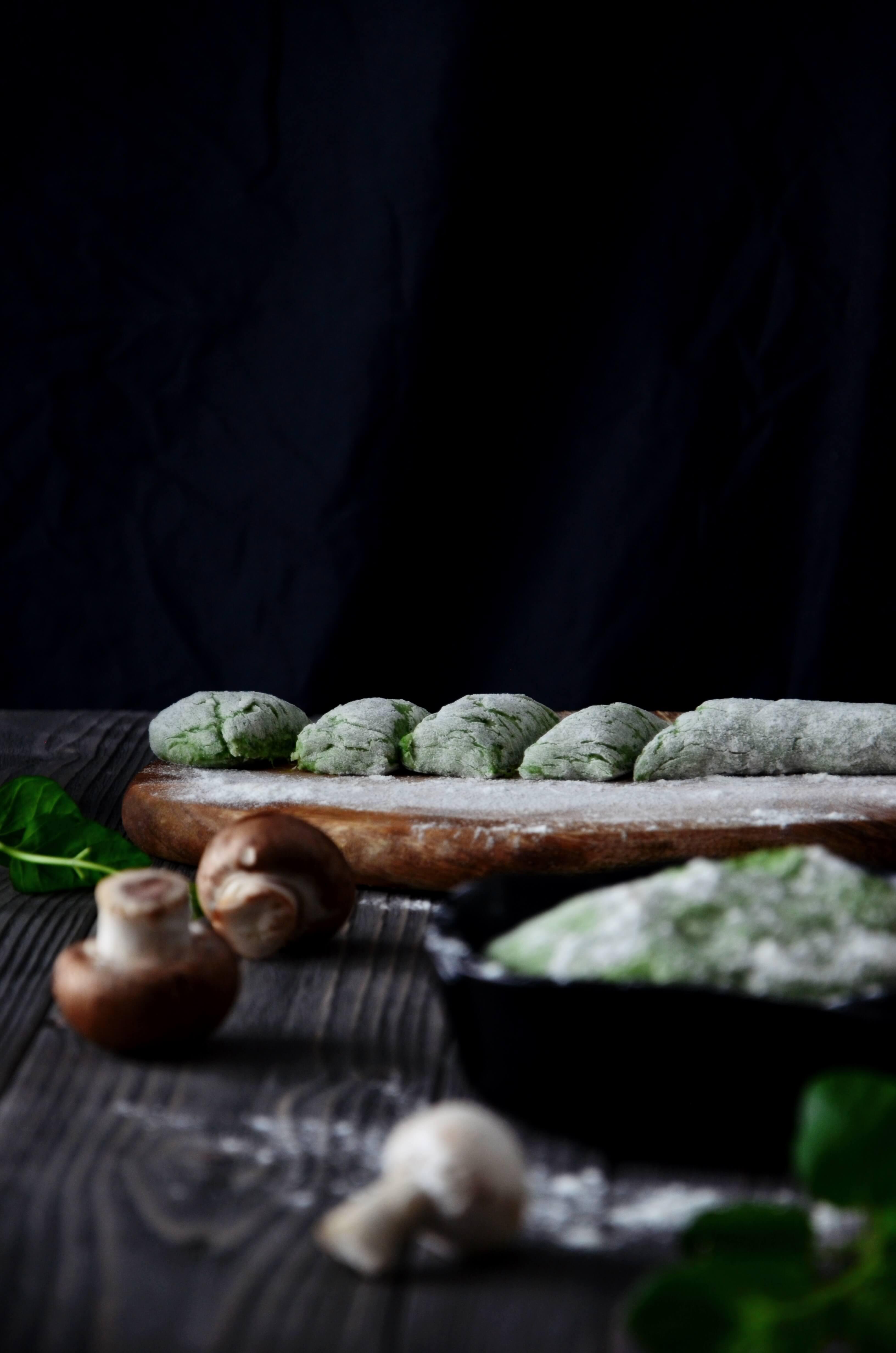 szpinakowe gnocchi z grana padano