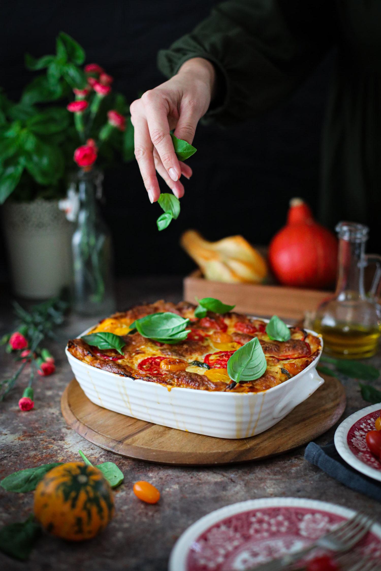 Najlepsza lasagne warzywna z odrobiną pikanterii