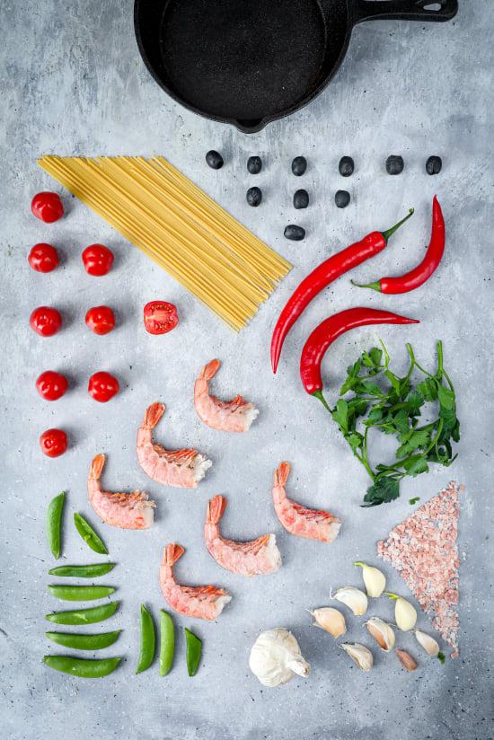 składniki dania, kompozycja w fotografii